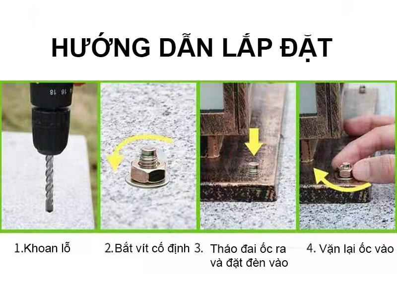 hướng dẫn lắp đặt đèn trụ cổng năng lượng mặt trời