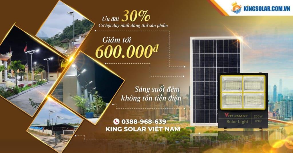 banner giảm giá đèn năng lượng mặt trời
