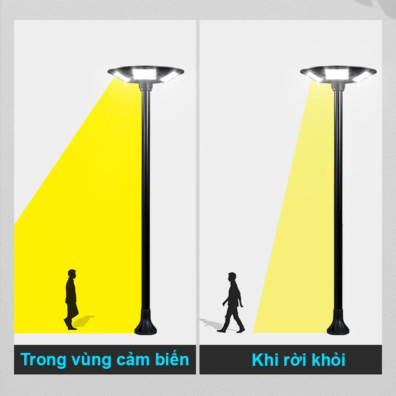 cảm biến chống trộm thông minh đèn năng lượng mặt trời UFO