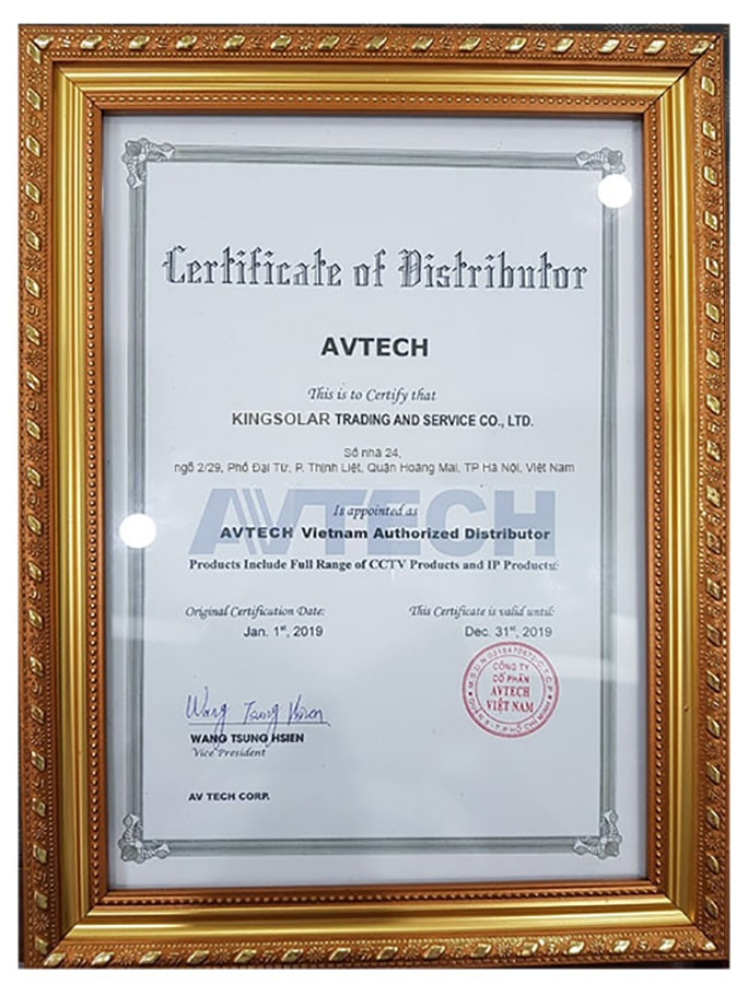 chứng nhận avtech