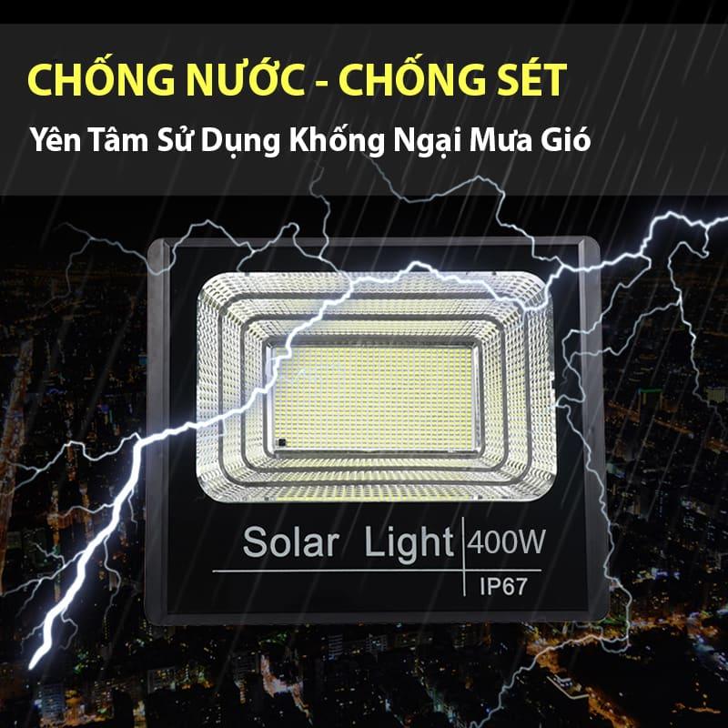 đèn năng lượng mặt trời 400w chống thấm nước