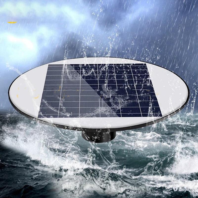 đèn năng lượng mặt trời sân vườn UFO 200w