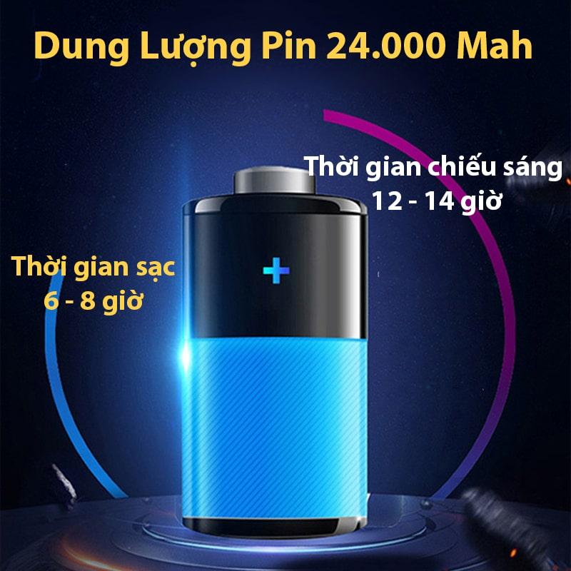 dung lượng pin bóng đèn năng lượng mặt trời 200w